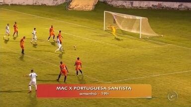 MAC enfrenta o Portuguesa Santista pela série A3 do Campeonato Paulista - O MAC enfrenta o Portuguesa Santista neste sábado (27) no Abreuzão em Marília (SP). O jogo começa às 19h.