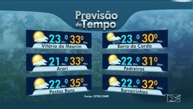 Confira as variações das temperaturas no Maranhão - Previsão do tempo para esta sexta-feira (26) será um dia de muita instabilidade em todo o Maranhão.