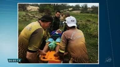 Colisão entre veículos em duna deixa cinco feridos - Saiba mais em g1.com.br/ce