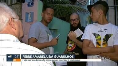Moradores não conseguem agendar vacinação da febre amarela em Guarulhos - Oito pessoas foram diagnosticadas com febre amarela em Guarulhos. Mas a cidade não está entre os 54 municípios que participam da campanha de vacinação fracionada contra a doença.