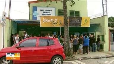Todos os postos de saúde estão abertos no Dia D para vacinação em Santo André - Em Santo Andre, todos os postos de saúde estão funcionando para imunizar a população contra a febre amarela.