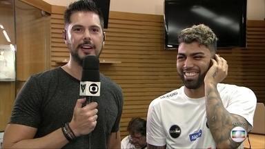 Gabigol chega ao Santos e fala ao vivo no Globo Esporte - undefined