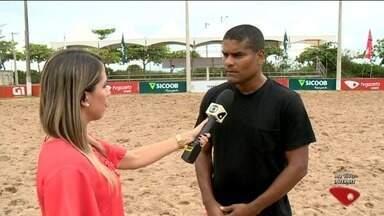 Finais do campeonato de beach soccer acontecem em Aracruz, es - Chuva não atrapalhou evento.
