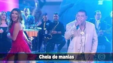 'Raça Negra' canta super sucesso 'Cheia de Manias' - Música anima o 'Domingão'