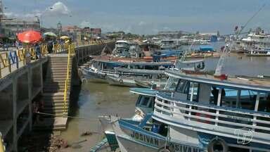 Reunião trata sobre o problema de atracação de barcos em frente a cidade - A reunião que foi realizada nesta quarta-feira (7) teve participação de representantes da gestão pública, armadores e carregadores que atuam no porto em frente à praça Tiradentes.