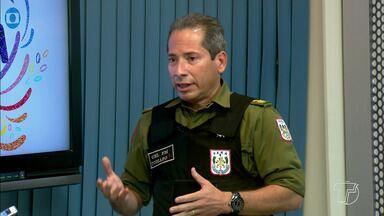 Órgão de segurança pública devem unificar ações durante o carnaval 2018 - Comandante da da CPR-I, coronel Heldson Tomaso, explica como funcionará o sistema que será colocado em prática durante a folia 2018 é o