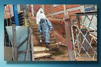 Secretaria de Saúde de Arujá faz ação de bloqueio contra febre amarela no Jardim Josely - Funcionários fizeram a nebulização com inseticida e orientaram os moradores.