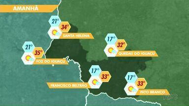 Quinta feira deve ser nublada na região - Veja a previsão no mapa.