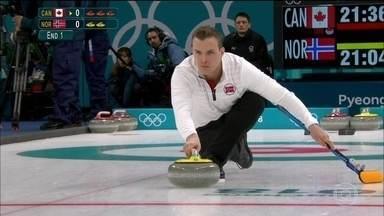 Curling inicia a disputa da Olimpíada de Inverno na Coreia do Sul - Competições oficiais dos Jogos de Inverno começaram antes mesmo da cerimônia de abertura