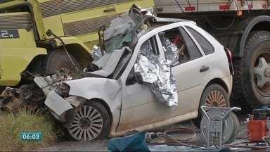 Três pessoas morrem em acidente na MT 130 - Três pessoas morrem em acidente na MT 130