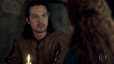 Tiago fica revoltado em saber que Amália acha que Virgílio é seu noivo - Afonso diz que ainda continua sendo um estranho para Amália