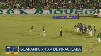 Guarani perde em casa para o XV de Piracicaba no Campeonato Paulista da Série A2 - Jogo aconteceu em Campinas, casa do Bugre, na noite de quarta-feira (14).