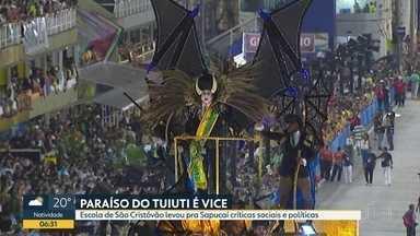 Tuiuti é vice-campeã do Carnaval - Enredo da escola foi marcado por protestos ao Governo e à Reforma da Previdência.