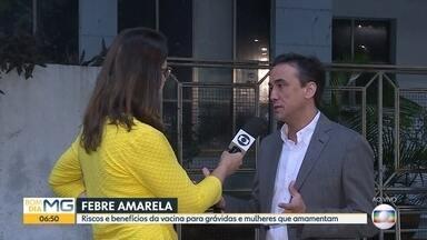 Grávidas e lactantes agora podem se vacinar contra febre amarela - Assista a entrevista com o presidente da Associação de Ginecologistas e Obstetras de Minas Gerais, Carlos Henrique Mascarenhas.