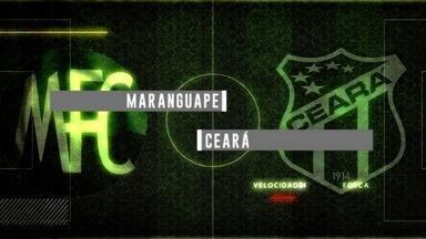 Chamada para a transmissão de Maranguape x Ceará pelo Campeonato Cearense - Times jogam no domingo, dia 18/02