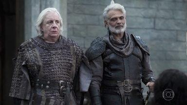 Demétrio diz que está preocupado em deixar o castelo sozinho - Augusto diz Afonso irá marchar junto com o exército de Artena