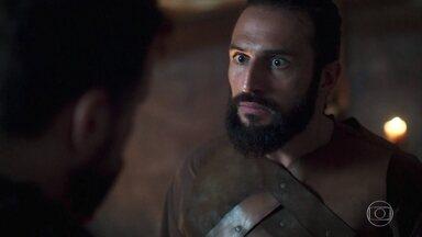 Diógenes aconselha Constantino a libertar Catarina - O duque prefere lutar e morrer