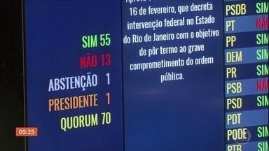 Senado aprova intervenção federal na segurança do RJ - O decreto já pode ser posto em prática, mas ação militar ainda está em fase de planejamento.