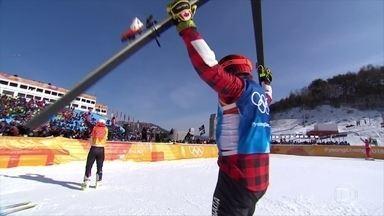 Brady Leman conquista a medalha de ouro no esqui cross estilo livre, em PyeongChang - Brady Leman conquista a medalha de ouro no esqui cross estilo livre, em PyeongChang