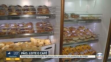 Pesquisa revela variação de preços dos produtos nas padarias da Grande BH - O valor do pão doce, por exemplo, pode variar até 220%.