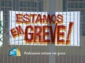 Greve dos professores municipais segue em Regente Feijó - Manifestação afetou oito creches da cidade.