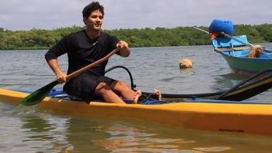 Você conhece a canoa havaiana? - Brucce Cabral foi conferir mais desse esporte que surgiu na região do triângulo polinésio e vem conquistando muitos adeptos em Aracaju.