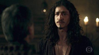 Rodolfo se sente sozinho - Ele confessa para Orlando que sofre com a ausência de Lucrécia
