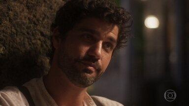 Lucas conversa com Inácio - Ele conta sua história e o motivo de sua tristeza