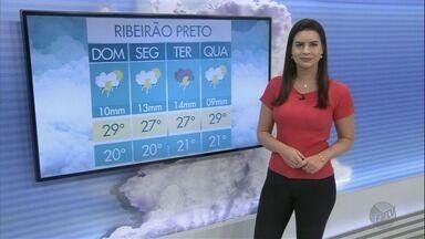 Veja a previsão do tempo para o domingo (25) na região de Ribeirão Preto - O dia vai ser de sol e chuva. As áreas de instabilidade continuam na região.
