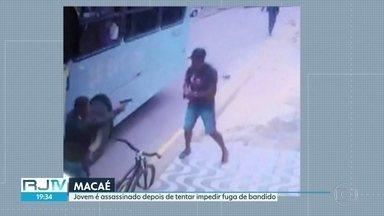 Jovem é morto em Macaé ao tentar impedir a fuga de homem armado - Daniel de Oliveira, de 23 anos, foi baleado no peito e não resistiu.