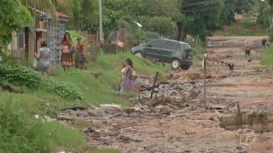 Falta de infraestrutura aumenta chances de alagamentos na grande área do Santarenzinho - Muitas casas já foram alagadas com as últimas chuvas que caíram sobre Santarém.
