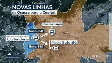 Mudanças em linhas de ônibus na Grande SP afetam a vida de 80 mil passageiros - Os ônibus que saiam de Carapicuíba, Jandira, Barueri e Itapevi, direto para a capital, vão parar em terminal em Osasco. É preciso ter cartão bom.
