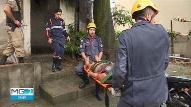 Muro desaba sobre casa durante temporal em BH e mata uma pessoa - Duas jovens ficaram feridas