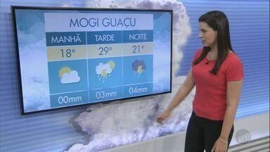 Campinas tem máxima de 30ºC sem previsão de chuva para este sábado - Confira a previsão do tempo do final de semana para outras cidades da região.
