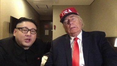 Sósia do ditador Kim Jong-un rouba a cena na Olimpíada de Inverno - O Fantástico localizou essa figura, que se identifica apenas como Howard. Nascido no sul da China e criado no exterior, ele já morou no Brasil.