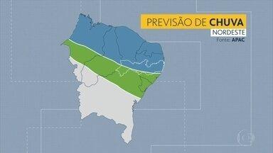 Meteorologistas apontam como será o clima no Nordeste nos próximos três meses - Expectativa é de precipitações no período, em Pernambuco