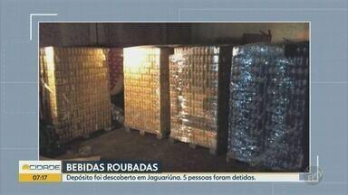 Polícia Civil descobre depósito de bebidas roubadas em Jaguariúna - Produtos teriam sido roubadas em Artur Nogueira.