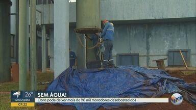 Obra deixa parte dos moradores de Santa Bárbara sem água nesta terça-feira - São 71 bairros no total, segundo a companhia de abastecimento.