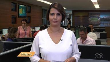 Anhanguera Notícias: Taxistas fazem protesto em Goiânia - Eles são a favor do projeto de lei que regulamenta o transporte particular de passageiros.
