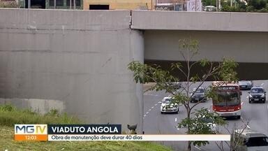 Prefeitura de BH diz que viaduto Angola vai passar por obra e descarta risco de queda - Manutenção deve durar 40 dias no elevado que passa sobre a Avenida Antônio Carlos, no bairro São Cristovão.