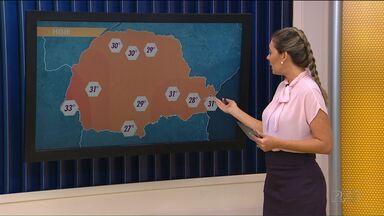 Tarde fica quente com pancadas de verão - As temperaturas ficam altas em todas as regiões.