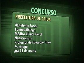 Confira as oportunidades em concursos públicos na região de Presidente Prudente - Candidatos podem fazer as inscrições pela internet.