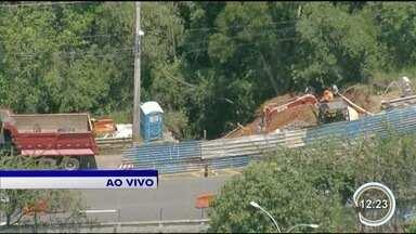 Obra muda trânsito no Jardim da Granja em São José - Veja do alto, pelo Vancop.