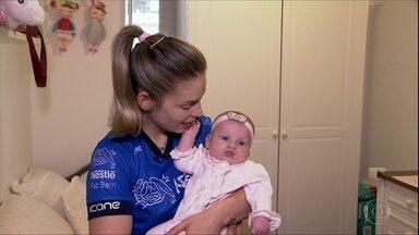 Camila Brait volta às quadras depois de se tornar mamãe - Camila Brait volta às quadras depois de se tornar mamãe