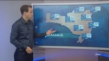 Veja como ficará o tempo em todas as regiões de SC nesta quinta-feira (1) - Veja como ficará o tempo em todas as regiões de SC nesta quinta-feira (1)