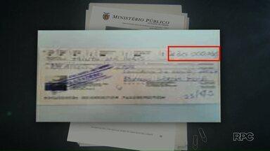 MP afirma que cheque encontrado nas investigações da ZR-3 serviria ao pagamento de propina - O cheque de 30 mil reais foi apreendido na casa do empresário Homero Wagner Fronja e teria sido solicitado indiretamente pelo servidor público Ossamu Kaminagakura. O cheque não tinha fundos.