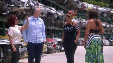 Huck conta como fez Tatiane chegar no palco Caldeirão para o 'Essa Música é Minha' - Companheira da compositora ajudou na captura