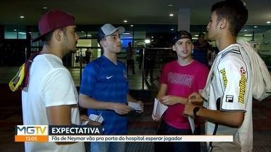 Atacante Neymar é operado em Belo Horizonte - O brasileiro se machucou em um jogo pelo campeonato francês. Muitos fãs foram até o hospital neste sábado (3) onde Neymar está internado.