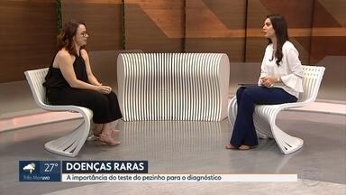 Especialista orienta sobre sintomas que podem indicar doenças raras - A geneticista e professora da UFMG Sarah Teixeira Camargos explica a importância de exames como o teste do pezinho.