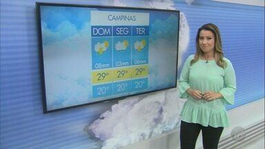 Confira a previsão do tempo para este domingo na região - Dia deve ser de temperatura alta e com chuva.